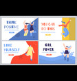 woman inspirational landing page set in flat style vector image