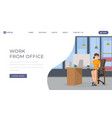 work from office landing page template personal vector image vector image