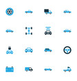 car colorful icons set collection of car battery vector image