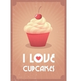 I love cupcakes vector image