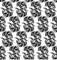 seamless monochrome pattern with stylized dragons vector image