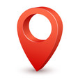 3d pin map pointer red marker for vector image vector image