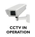 attention cctv in operation sign vector image vector image