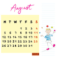 august 2013 vector image vector image