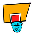 basketball goal icon icon cartoon vector image