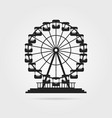 black ferris wheel with shadow vector image