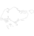 Black White Singapore Outline Map vector image vector image