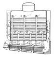 boiler combination steam generator vintage vector image vector image