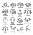 Business management icons in line style Pack 06 vector image vector image