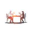business partner office table meeting vector image