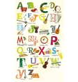 Classical musical instruments alphabet vector image vector image