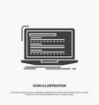 code coding computer monoblock laptop icon glyph vector image vector image