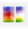 creative template background set with rainbow vector image vector image