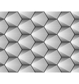 Design seamless monochrome hexagon pattern vector image vector image