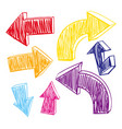 different arrows in many colors vector image