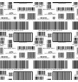 different barcodes on white pattern vector image vector image