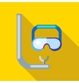 Diving mask icon flat style vector image vector image