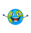 earth planet laughing cartoon character vector image vector image