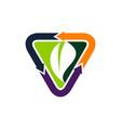 eco home logo design template vector image vector image