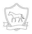 Equestrian blaze icon in outline style isolated on vector image vector image