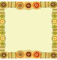 Ethnic hand painted square frame vector image vector image