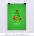 fir tree silhouette carved in paper vector image vector image