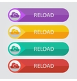 flat buttons cloud reload vector image vector image