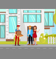 food delivery flat cartoon vector image vector image