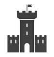 fort black icon old building architecture element vector image