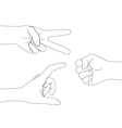 hand set 4 vector image vector image