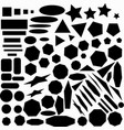 large collection geometric abstract monochrome vector image