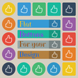 Like icon sign Set of twenty colored flat round vector image vector image