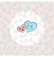 love hearts on seamless pattern vector image vector image