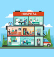 medical office rooms hospital building interior vector image vector image