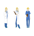 Medical Staff Woman Full Body Caucasian Color vector image vector image