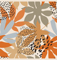 modern floral background in natural colors
