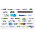 modern glitch collection tv noise glitches vector image