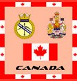 official government elements of canada vector image vector image