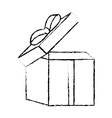 open gift box ribbon traditional decorative sketch vector image vector image