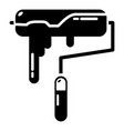 paint roller icon simple black style vector image vector image