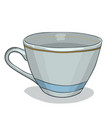 painted cup vector image