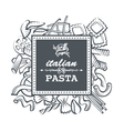 pasta restaurant vector image vector image