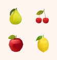 peak cherry apple and lemon vector image vector image