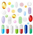 pills set vector image vector image