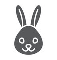 rabbit glyph icon animal and zoo bunny sign vector image vector image