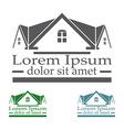 Real Estate raster logo design template color set vector image vector image