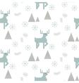 Reindeer in a snowy woods seamless pattern vector image vector image