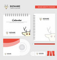 reindeer logo calendar template cd cover diary vector image