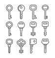 retro and modern key icons set vector image vector image