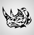 Rhino Head Tribal vector image vector image